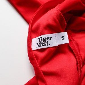 Tiger Mist Tops - Tiger Mist Red Cropped Belle Sleeve Blouse